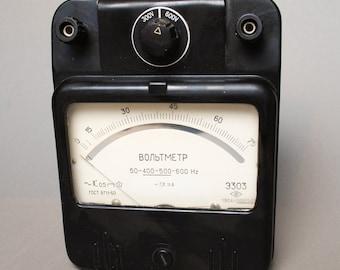 Antique big Voltameter, black bakelite case, 1960