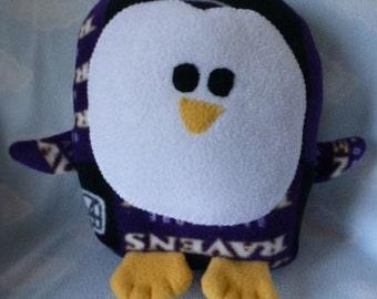Plush Baltimore Ravens Penguin Pillow Pal, Baby Safe, Machine Wash and Dry