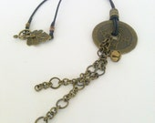 Brass Chinese coin necklace