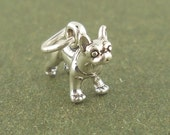 Boston Terrier Dog Charm Pendant Sterling Silver 925 mini charm