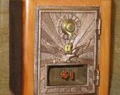 Post Office Door Bank No 41 - Barn Wood - Eagle - 1920 FREE SHIPPING