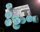 Protection!  Natural Blend Soy Tea Lights - 9  for Spellcasting, Magick, Meditation and Ritual