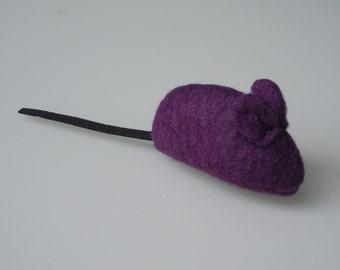 Catnip Mouse Cat Toy Plum Colored Fleece
