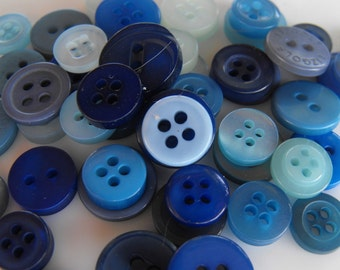 Blue Sky Buttons, 500 Small Assorted Round Sewing Crafting Bulk Buttons