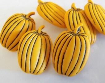 6 Fall Pumpkin Shank Buttons