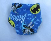 Blue Background Batman Fitted Diaper Size Small