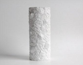 """XL Vintage Op Art """"Fossil"""" Vase - Hutschenreuther"""