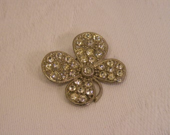 Rhinestone Dogwood Flower, Shamrock, Four Leaf Clover, Flower