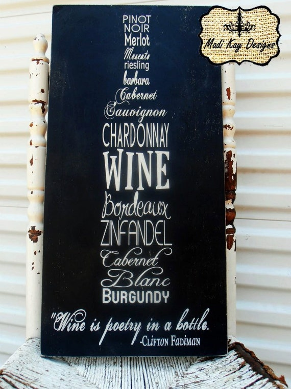 Items Similar To Personalized Wine Sign Wall Art In Shape