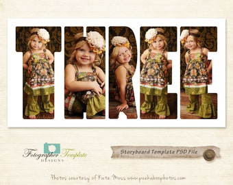 Birthday Storyboard Template Collage Photoshop Templates for Photographers - S134