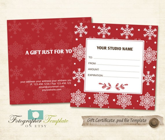 Email Gift Certificate Template