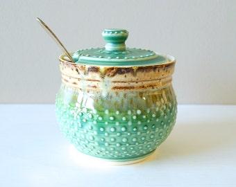Sugar Bowl, Sugar Jar, Honey Pot, Lidded Vessel, Lidded Jar, MADE TO ORDER by RiverStone Pottery