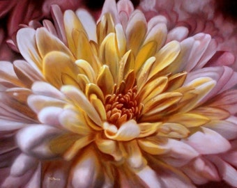 Chrysanthemum Starburst - Cross stitch pattern pdf format