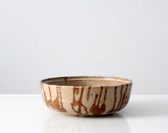 signed studio pottery bowl, 1970s pottery