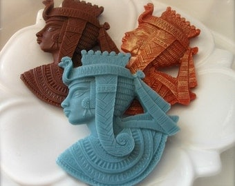 EGYPTIAN SOAP, Egyptian Queen, Cleopatra Soap, King Tut, Scented in Cleopatra, Novelty Soap, Hostess Gift, Handmade, Vegetable Based