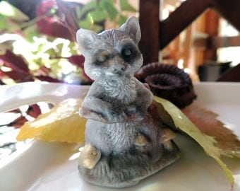 RACCOON SOAP, Miniature Raccoon, Do You Need A Hug? Scented in Tall Grass and Cedar, Woodland Animal Soap, Whimsical Soap Vegetable Based