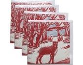 Reindeer in the Woods Christmas Card Pack of 4