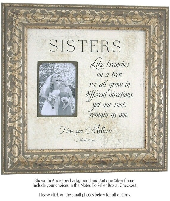 Sister Wedding Gifts: Sisters Best Friend Maid Of Honor Like By PhotoFrameOriginals