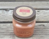 Candy Apple  - Rustic Mason Jar Candle - Autumn Home Fragrance - Caramel Apple 8 oz Pure Soy Paraffin Free Candle