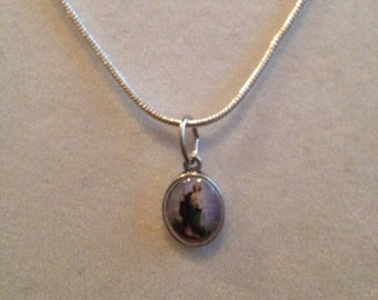 """St. Jude necklace on 18"""" stainless steel necklace"""