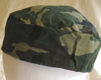 Camoflauge Kippah/Yarmulke Cotton Fabric Reversible