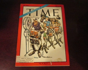 Collectible Time Magazine April 14, 1967 Horse Racing Kentucky Derby Jockey Cover Good - Very Good Condition Great Ads