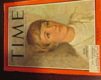 Collectible Time Magazine December 23, 1966 Julie Andrews Mary Poppins Sound of Music Cover Good - Very Good Condition Great Ads