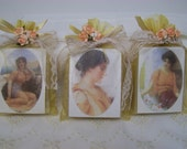 Victorian soaps, set of 3 soaps, organic, handmade, birthday gift, bridesmaids gift.