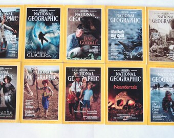 Vintage Copies Of National Geographic