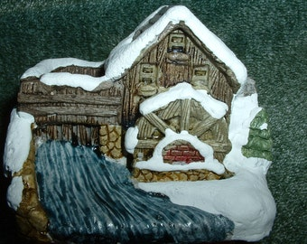 Vintage American Rustic Series Grist Mill Cold Cast, 1 Individual Piece, LAST ONE
