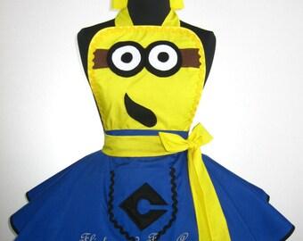 Adult Yellow MINION Costume Apron