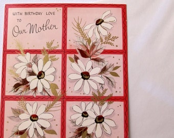1960s vintage Birthday card for mom, unused, with envelope