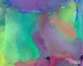 Abstract Art Print, Watercolor Painting, Large, To the Moon