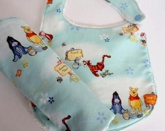 Pooh Bib and Burp Cloth Set, Winnie the Pooh Set