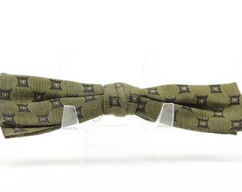Vintage Dark Green Bow Tie