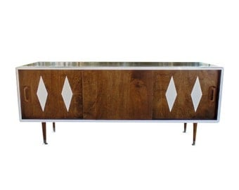 Mid Century Inspired Danish Modern tv Stand / Credenza - MADE TO ORDER