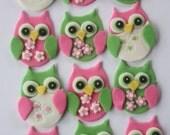 12 Fondant cupcake toppers--owl