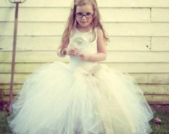 Toddler Flower Girl Tutu | Floor Length Tutu Sizes 3T, 4T, 5T | Wedding Tutu, Customize Your Colors