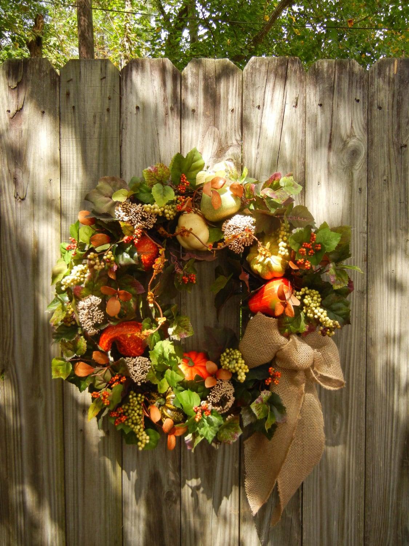 Large Fall Wreath Front Door Wreath Autumn Wreath