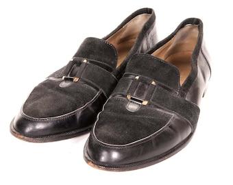 1980's Black Loafers Men's Size 13M