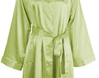 MONOGRAMMED - Silk Robes Monogrammed - Silk Robes for Bridesmaid - Satin Bridesmaid Robes - Bridesmaids Robes - Flower Girl Robe