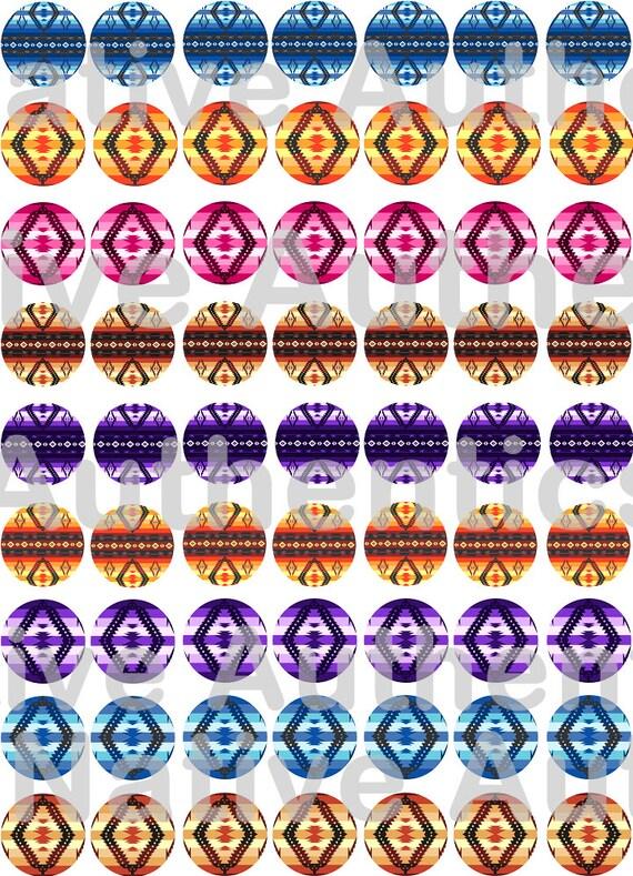 1 Cab Southwest Native Design Bottle Cap Images Epoxy