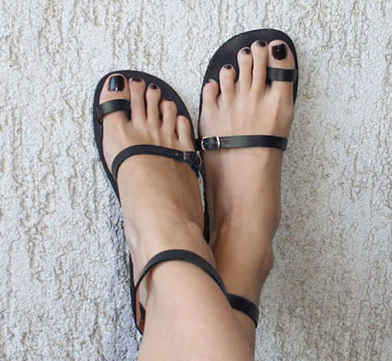 Silver Toe Ring Sandals