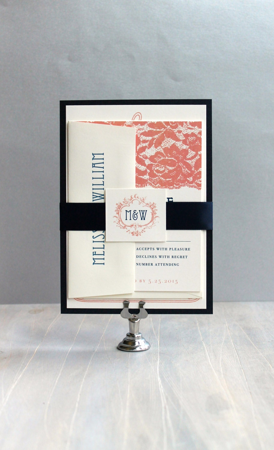Coral Wedding Invitations: Coral And Navy Wedding Coral Wedding Invitations Navy And