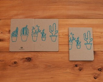 Cactus and Succulent Notebook, Cute Journal, Small Notebook, Free US Shipping