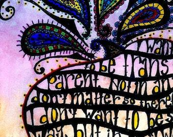 Transparent I - Original Mixed-Media on Canvas, 8 x 10
