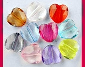 Acrylic Heart Spacer Beads