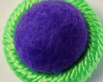 Purple, Green, Dorset Buttons, Felted Buttons, Hand Crafted Buttons,