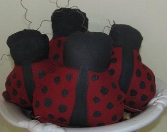 Huge Primitive Bowl Fillers Ornies Tucks Ladybugs