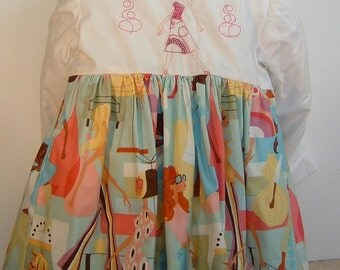 Handmade Fashion Embroidered Girl Coat & Matching Dress